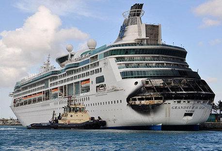Firehit Cruise Ship Out Until July Captain Greybeard - Cruise ship damaged