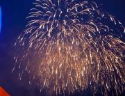 Greenock fireworks display seen from QM2
