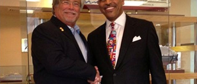 Carnival chairman Micky Arison (left) and CEO Arnold Donald