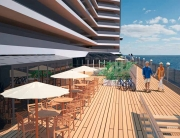 MSC Seaside's broad open promenade