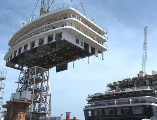 Cunard's new-look Queen Victoria is taking shape in an Italian dry dock