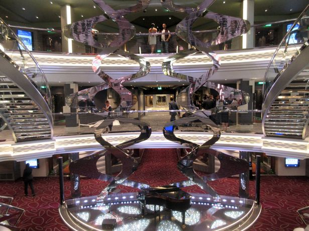 Glittering: MSC Meraviglia's Infinity Atrium