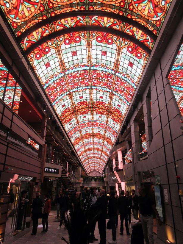 The LED ceiling in Meraviglia's indoor promenade
