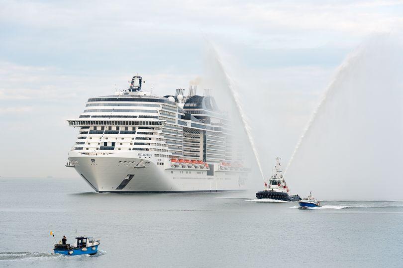 MSC Meraviglia arrives in Le Havre