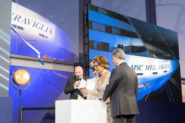 Sophia Loren christens MSC Meraviglia