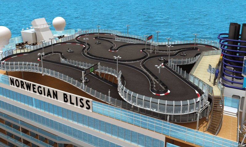 Norwegian Bliss go-kart track