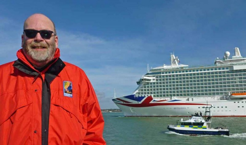 Britannia arriving in Southampton for the first time last year
